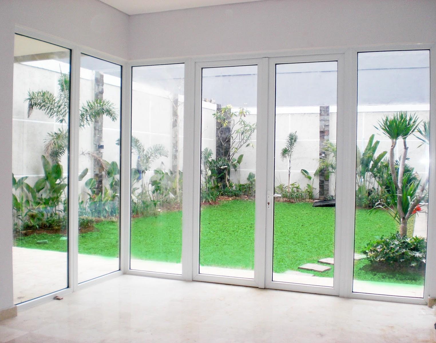 design pintu kaca aluminium | pintu minimalis
